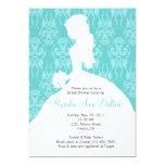 Damask Bride - Bridal Shower Invitaion 5x7 Paper Invitation Card