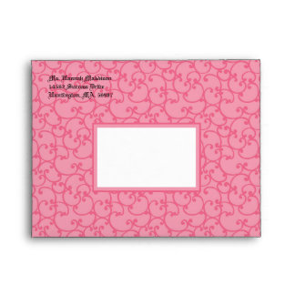 Damask Bright Pink A2 Envelopes