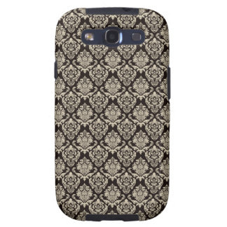 Damask Brown Beige Galaxy S3 Covers