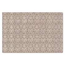 Damask Brown Pattern Tissue Paper