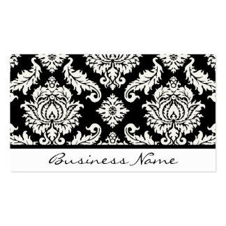 Damask Business Card (Black & White)