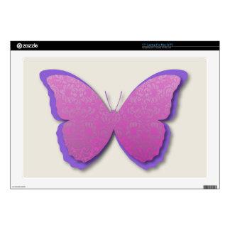 Damask Butterfly (Deep Pink & Purple) Skin For Laptop