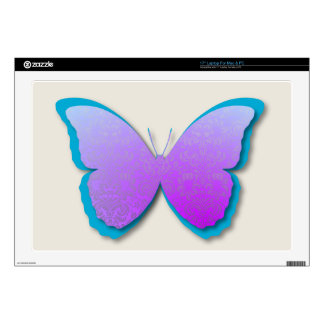 Damask Butterfly (Purple & Teal) Laptop Decals