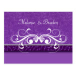 Damask Butterfly Save the Date Invitation Postcards