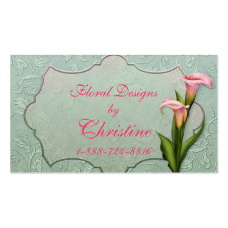 Damask Calla Lily Business Card