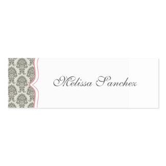 damask calling card {skinny} business card