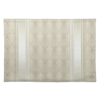 Damask Candlelight Cream Cloth Placemat