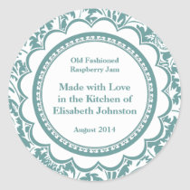 Damask Canning Labels for Homemade Jams, Jellies