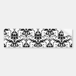 Damask Car Bumper Sticker
