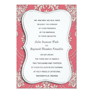 Damask Card Pink Classy