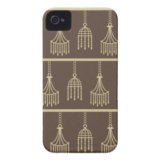 Damask chandelier brown wallpaper girly pattern iPhone 4 Case-Mate case