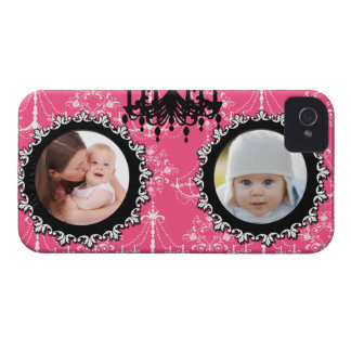 Damask chandelier girly photo template chic iPhone iPhone 4 Cover