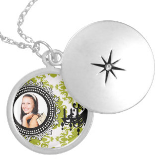 Damask chandelier girly photo template chic locket