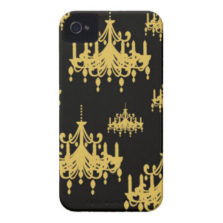 Damask chandelier vintage girly chic print pattern iPhone 4 case