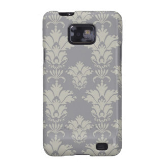 Damask | Charcoal & Pale Gold | Customizable Samsung Galaxy SII Cover