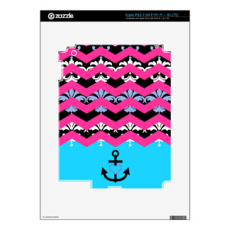 Damask Chevron Decals For iPad 3