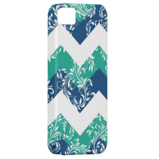 Damask chevron pantone summer emerald iPhone 5 iPhone 5 Case