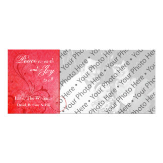 Damask Christmas Holiday Photo Greeting Card Personalized Announcement