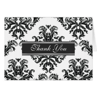 Damask Classic Thank you Card
