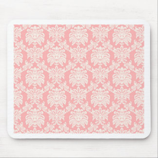 Damask - Coral Mouse Pad