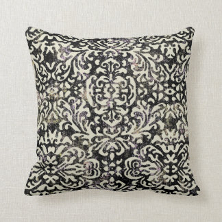 vintage damask cream throw pillow