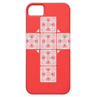Damask Cross Holy Case Girly pink iPhone 5 Covers