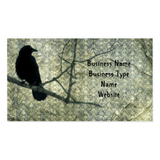 Damask Crow Double-Sided Standard Business Cards (Pack Of 100)