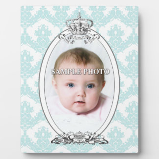 Damask Crown Customizable Photo Plaque 8x10