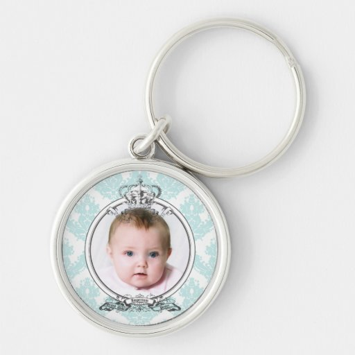 Damask Crown_Your Photo Keychain