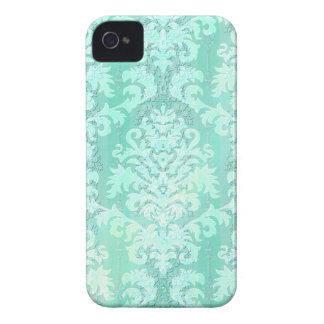 Damask Cut Velvet, Antique Lace in Mint Green iPhone 4 Cover