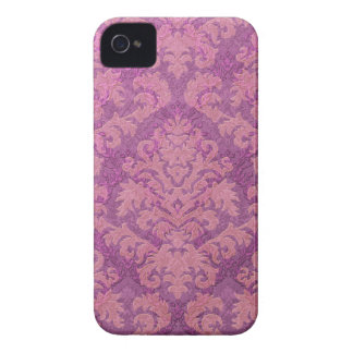Damask Cut Velvet, Double Damask in Pink & Plum iPhone 4 Cover
