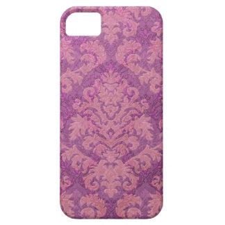 Damask Cut Velvet, Double Damask in Pink & Plum iPhone SE/5/5s Case