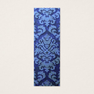 Damask Cut Velvet, Embossed Leaves Mini Business Card