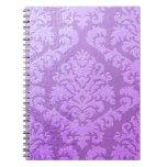 Damask Cut Velvet, Embossed Satin Notebooks