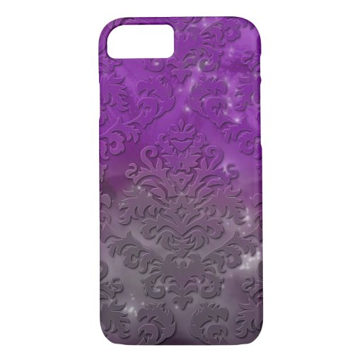 Damask Cut Velvet, Night Lights iPhone 8/7 Case