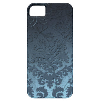 Damask Cut Velvet, Swank Swirls in Blue iPhone SE/5/5s Case