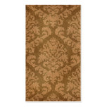 Damask Cut Velvet, Tapestry in Shades of Brown Business Card Template