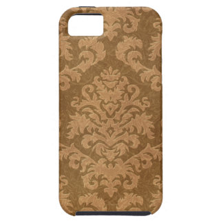 Damask Cut Velvet, Tapestry in Shades of Brown iPhone SE/5/5s Case