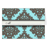 Damask Cute Vintage Classy Placement Table Cards
