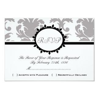 Damask Cute Vintage Elegant Classy RSVP Cards Personalized Invite