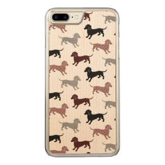 Damask Dackel Cute Dachshunds Carved iPhone 7 Plus Case