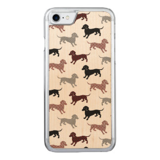 Damask Dackel Cute Dachshunds Carved iPhone 8/7 Case
