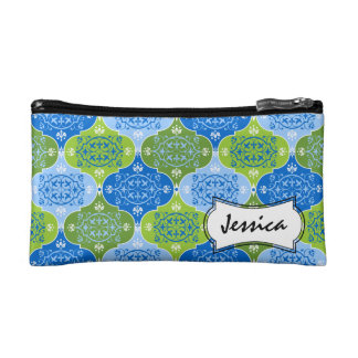 Damask Decorative Pattern Name Cosmetic Bag