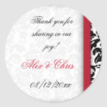 Damask Delight Favor Stickers
