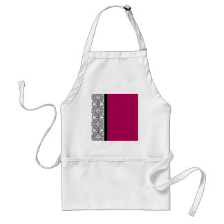 Damask Delight in Cherrystone Red Apron