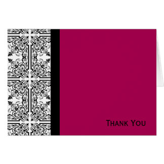 Damask Delight in Cherrystone Red Greeting Cards