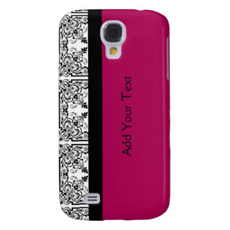 Damask Delight in Cherrystone Red Galaxy S4 Case
