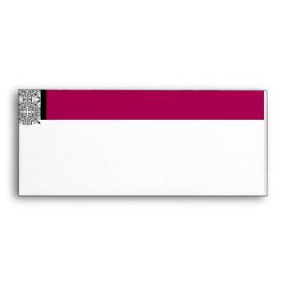 Damask Delight in Cherrystone Red Envelopes