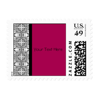 Damask Delight in Cherrystone Red Postage