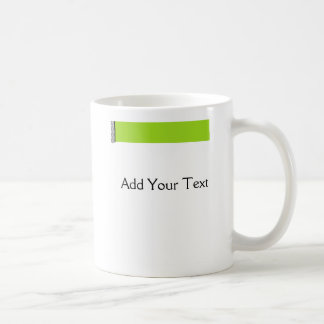 Damask Delight in Lime Green Coffee Mug